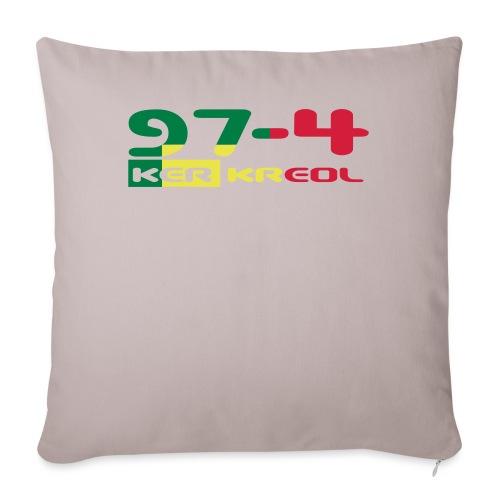 Design 974 ker kreol, rastafari - Housse de coussin décorative 45x 45cm