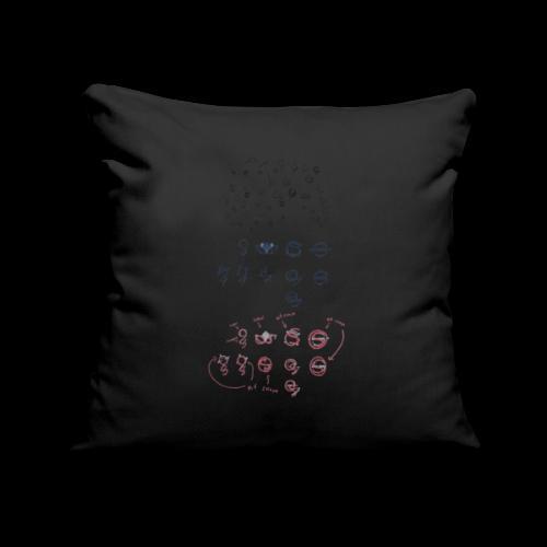 Overscoped concept logos - Sofa pillowcase 17,3'' x 17,3'' (45 x 45 cm)