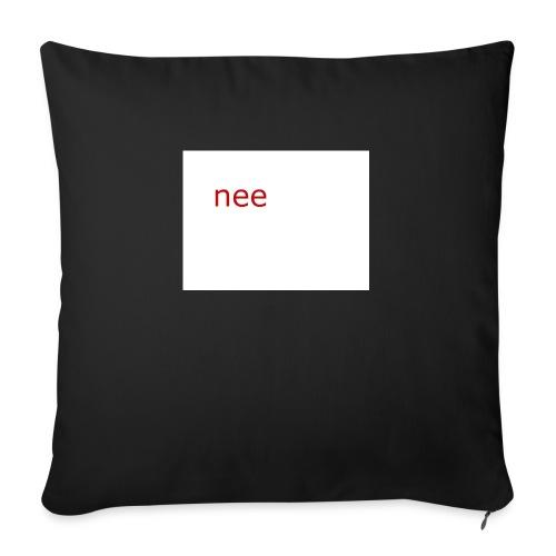 nee t-shirts - Sierkussenhoes, 45 x 45 cm