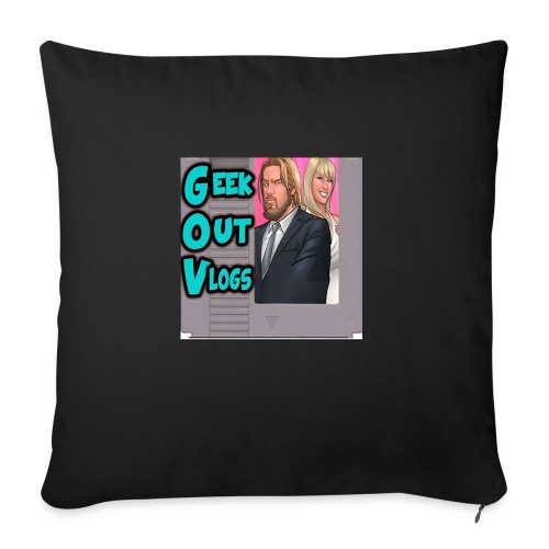 GeekOut Vlogs NES logo - Sofa pillowcase 17,3'' x 17,3'' (45 x 45 cm)