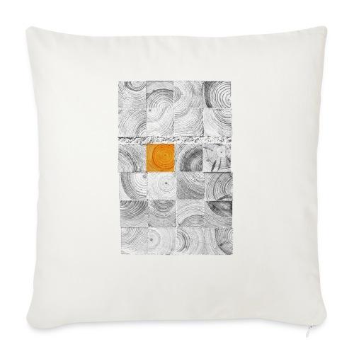 Cubes de Bois - Housse de coussin décorative 45x 45cm