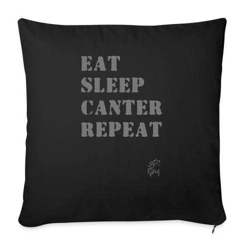 Eat Sleep Canter Repeat - Pferd Reiten VECTOR - Sofakissenbezug 44 x 44 cm