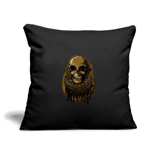 Skull in Chains YeOllo - Sofa pillowcase 17,3'' x 17,3'' (45 x 45 cm)