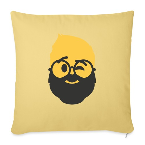 Dougsteins Wink Inverse by Dougsteins - Sofa pillowcase 17,3'' x 17,3'' (45 x 45 cm)