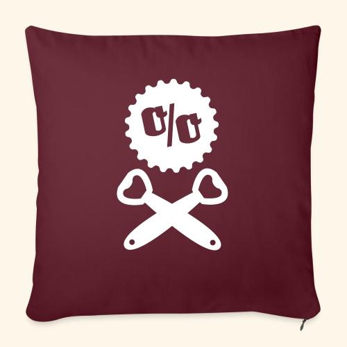 Bier T Shirt Design Piratenflagge - Sofakissenbezug 44 x 44 cm