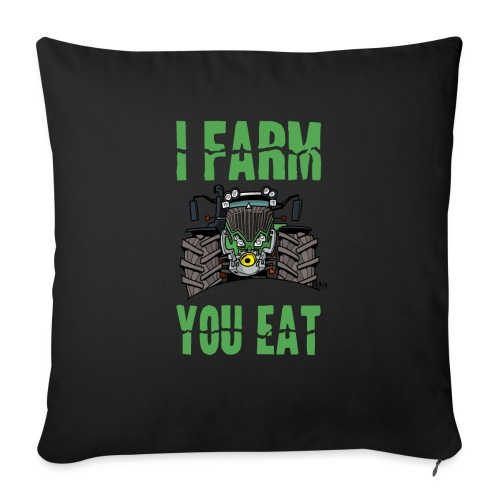 I farm you eat F - Sierkussenhoes, 45 x 45 cm