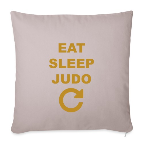 Eat sleep Judo repeat - Poszewka na poduszkę 45 x 45 cm