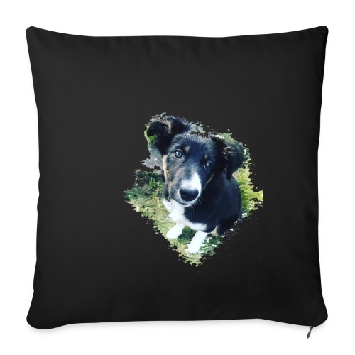 colliegermanshepherdpup - Sofa pillowcase 17,3'' x 17,3'' (45 x 45 cm)