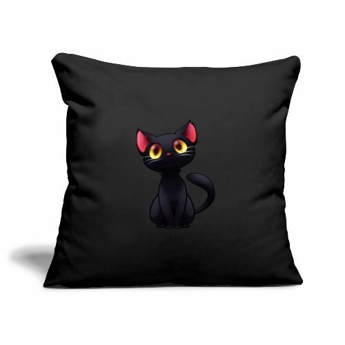 Black Cat - gatto nero - Copricuscino per divano, 45 x 45 cm