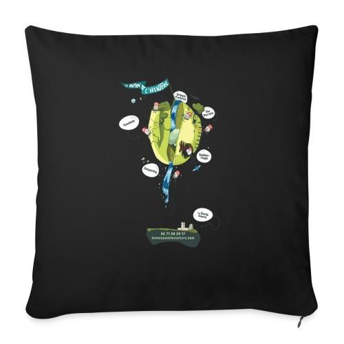 T-shirt Maison de L'aventure - Housse de coussin décorative 45x 45cm
