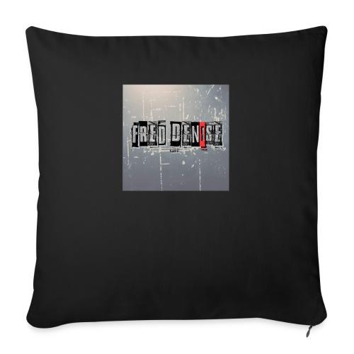 logo fred denise carré - Housse de coussin décorative 45x 45cm