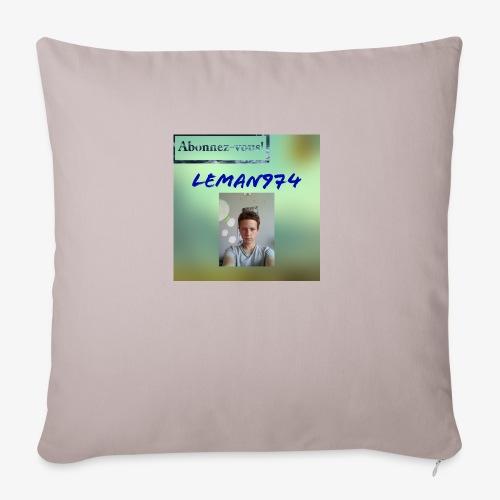 Leman974 logo - Housse de coussin décorative 45x 45cm