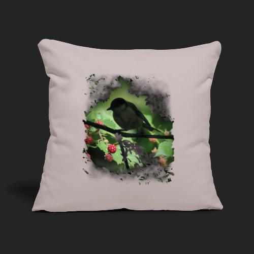Petit oiseau dans la forêt - Housse de coussin décorative 45x 45cm