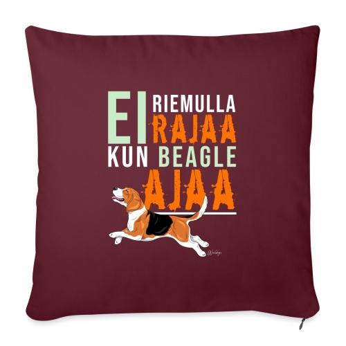 Riemulla Rajaa Beagle - Sohvatyynyn päällinen 45 x 45 cm