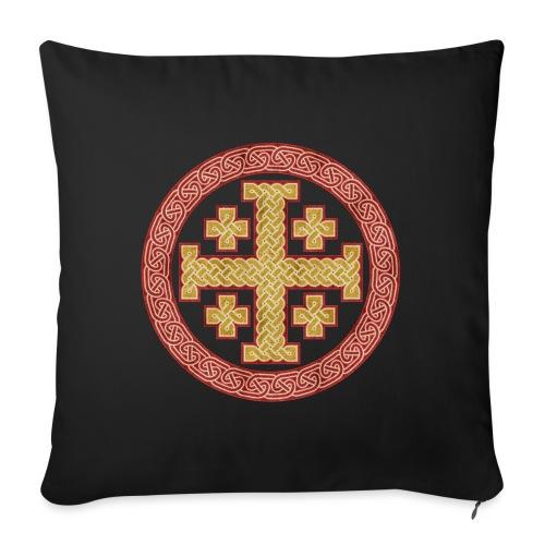 Jerusalem Style Celtic Cross - Sofa pillowcase 17,3'' x 17,3'' (45 x 45 cm)