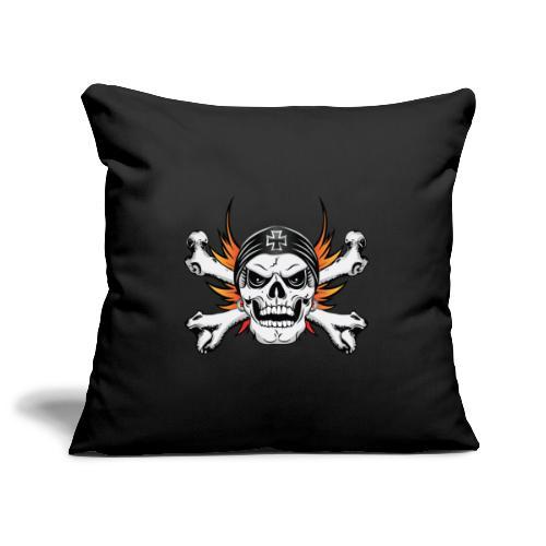 Skull Crossbones with Flaming Wings - Sofa pillowcase 17,3'' x 17,3'' (45 x 45 cm)