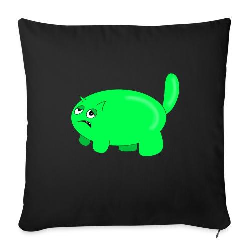 Green cat hing - Sofa pillowcase 17,3'' x 17,3'' (45 x 45 cm)