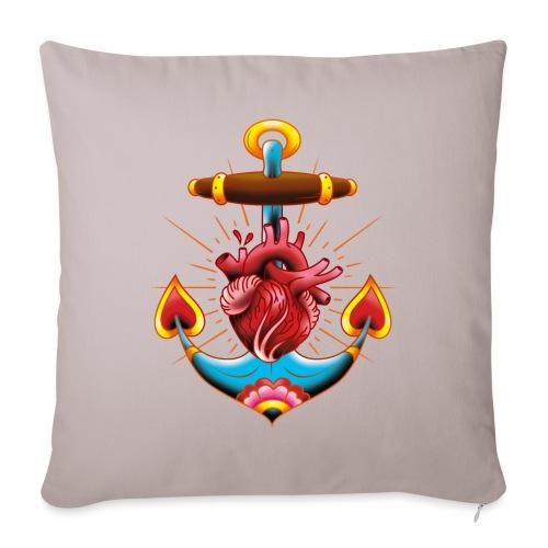 Sailor's Heart - Tattoo design - Housse de coussin décorative 45x 45cm