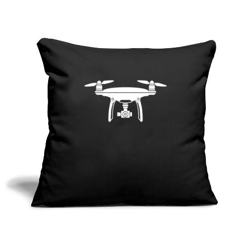 Drone Symbol Dronenpilot fliegen Technik - Sofakissenbezug 44 x 44 cm