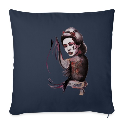 Geisha - Housse de coussin décorative 45x 45cm