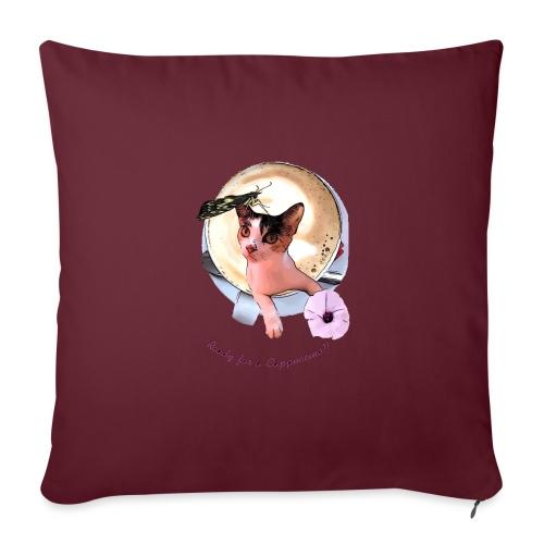 Ready for a cappuchino? - Sofa pillowcase 17,3'' x 17,3'' (45 x 45 cm)