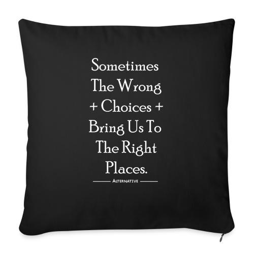 Choices T-shirt Black - Poszewka na poduszkę 45 x 45 cm