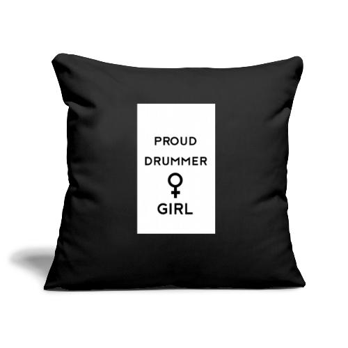 Proud drummer girl - white - Pudebetræk 45 x 45 cm