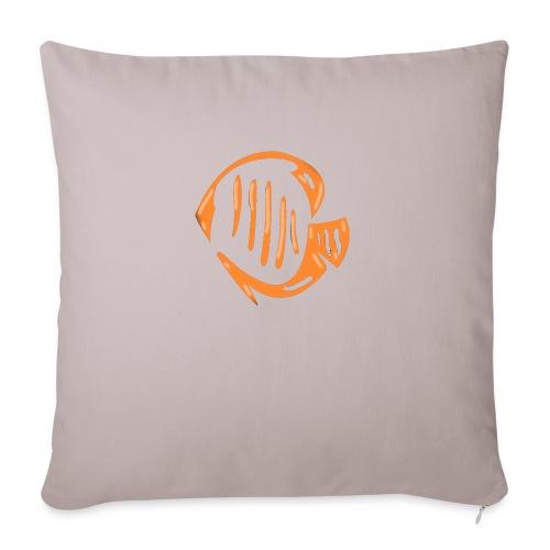Aquarium Adventures Logo - Sofa pillowcase 17,3'' x 17,3'' (45 x 45 cm)