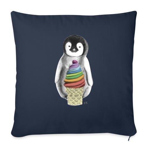 Baby Penguin With Ice Cre - Sofa pillowcase 17,3'' x 17,3'' (45 x 45 cm)