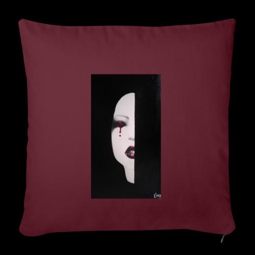 BlackWhitewoman - Copricuscino per divano, 45 x 45 cm