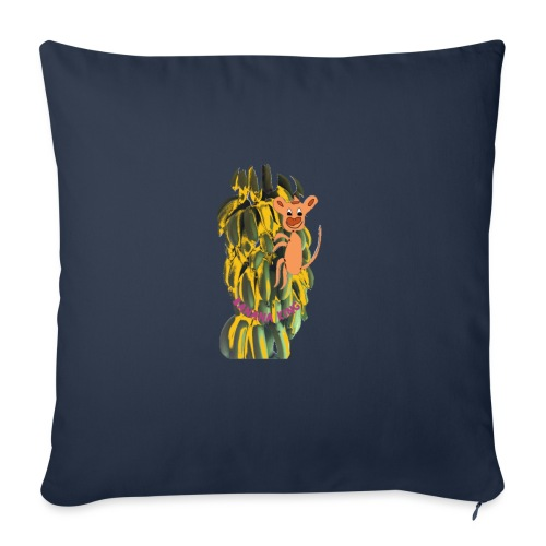 Bananas king - Sofa pillowcase 17,3'' x 17,3'' (45 x 45 cm)