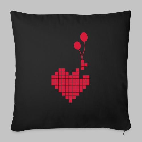 heart and balloons - Sofa pillowcase 17,3'' x 17,3'' (45 x 45 cm)