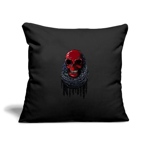 RED Skull in Chains - Sofa pillowcase 17,3'' x 17,3'' (45 x 45 cm)