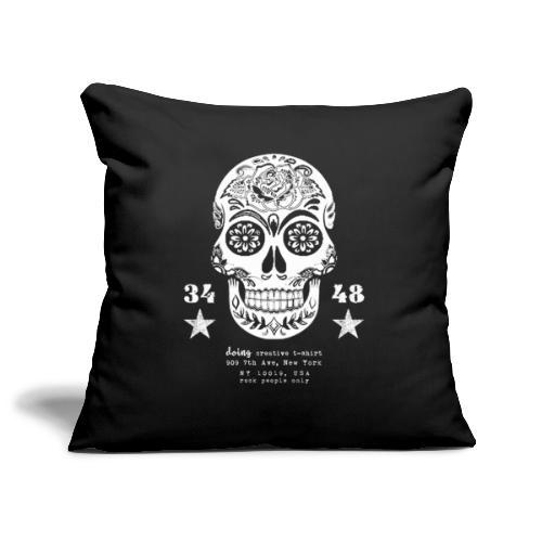 best skull tattoo - Copricuscino per divano, 45 x 45 cm