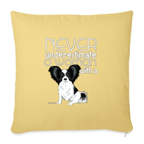 papiunderestimate3 - Sofa pillowcase 17,3'' x 17,3'' (45 x 45 cm)