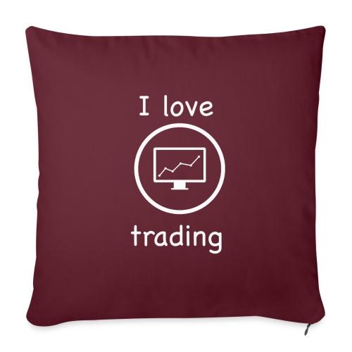 i love trading - Copricuscino per divano, 45 x 45 cm