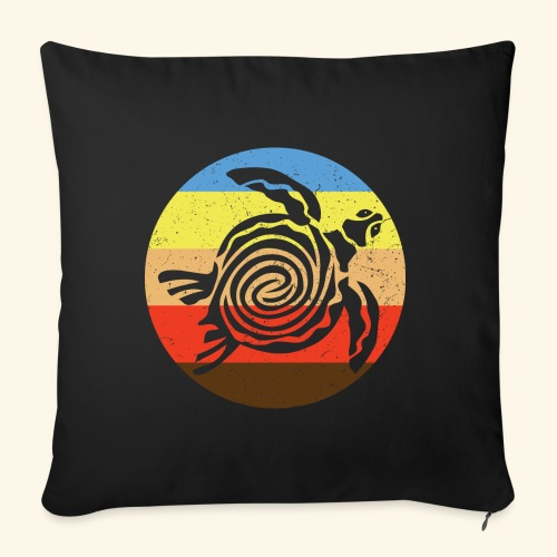 Barbudan Turtle Retro - Sofa pillowcase 17,3'' x 17,3'' (45 x 45 cm)