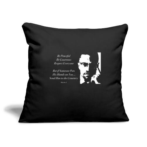 Malcolm X [#1] - Sofa pillowcase 17,3'' x 17,3'' (45 x 45 cm)