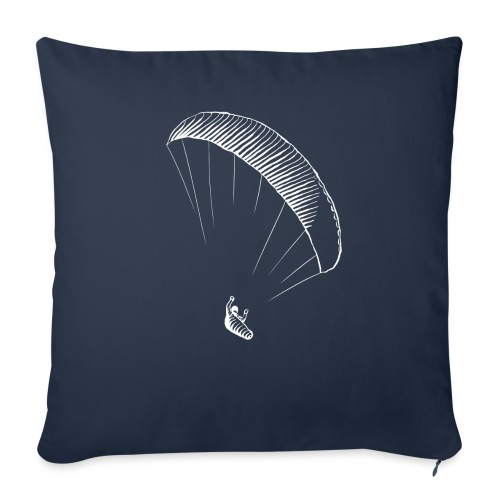 paraglider gerlitzen weiss - Sofakissenbezug 44 x 44 cm