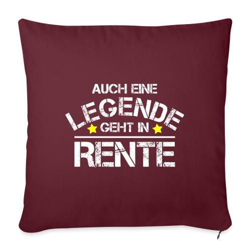 Pension Rente Rentner Legende Ruhestand Geschenk - Sofakissenbezug 44 x 44 cm