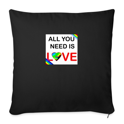 all you need is peace and love - Housse de coussin décorative 45x 45cm
