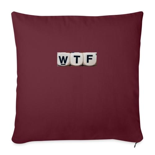 WTF casual clothing - Sofa pillowcase 17,3'' x 17,3'' (45 x 45 cm)
