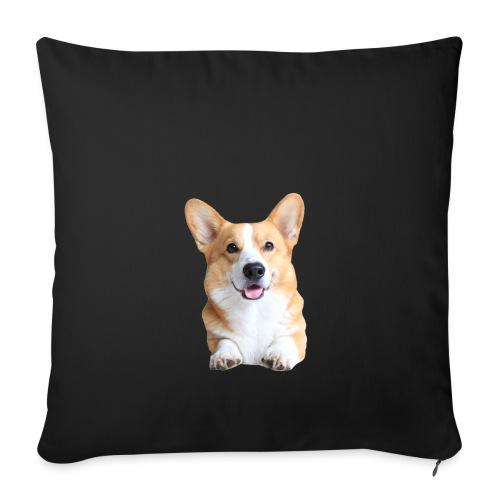 Topi the Corgi - Frontview - Sofa pillowcase 17,3'' x 17,3'' (45 x 45 cm)