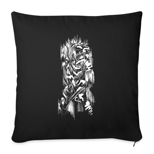 Samurai / White - Abstract Tatoo - Sofa pillowcase 17,3'' x 17,3'' (45 x 45 cm)