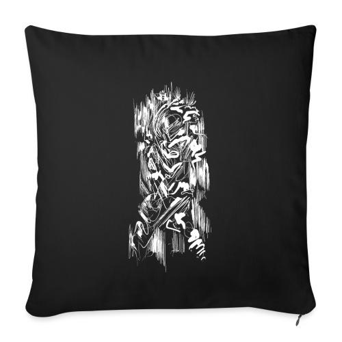 Samurai / White - Abstract Tatoo - Sofa pillowcase 17,3'' x 17,3'' (45 x 45 cm)