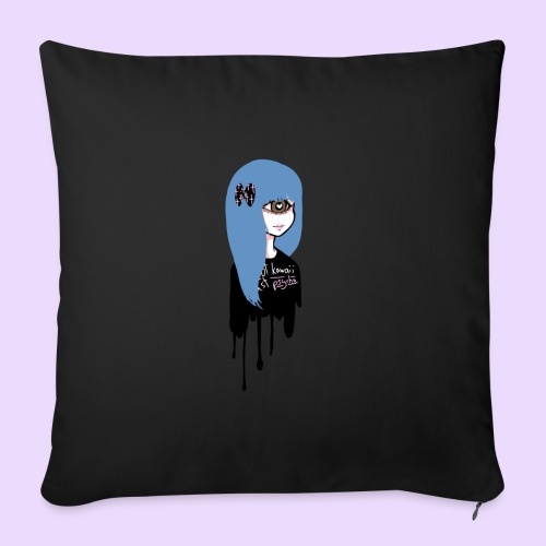 Not Kawaii, Just Psycho Girl - Sofa pillowcase 17,3'' x 17,3'' (45 x 45 cm)