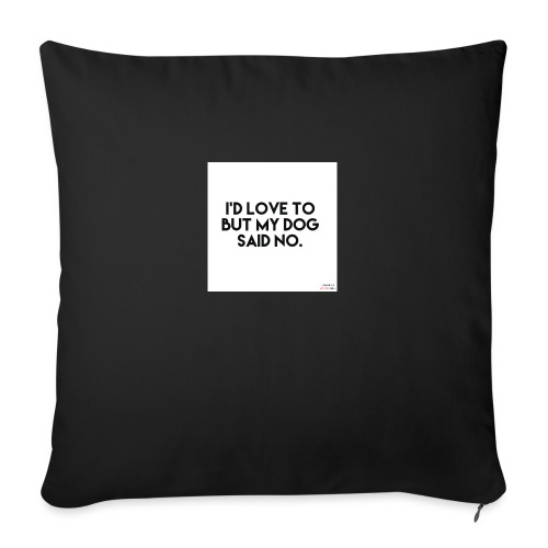 Big Boss said no - Sofa pillowcase 17,3'' x 17,3'' (45 x 45 cm)