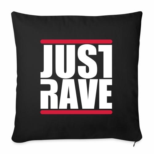 Just Rave Logo - Techno Festivals After Hour PLUR - Sofakissenbezug 44 x 44 cm