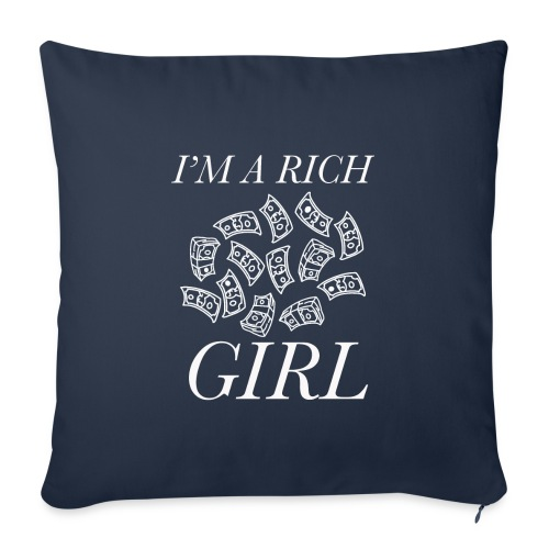 powerful I'm a rich girl T-shirt - Copricuscino per divano, 45 x 45 cm