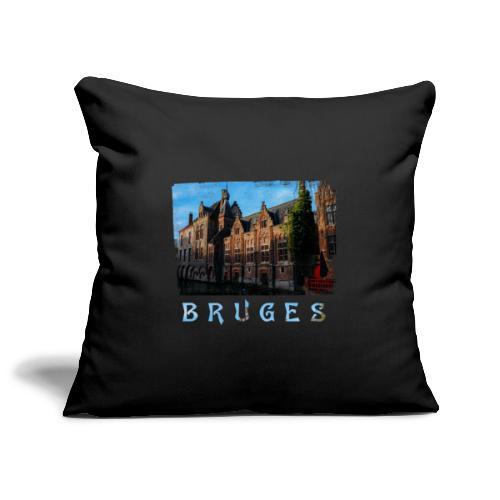 Bruges | Old houses - Sierkussenhoes, 45 x 45 cm